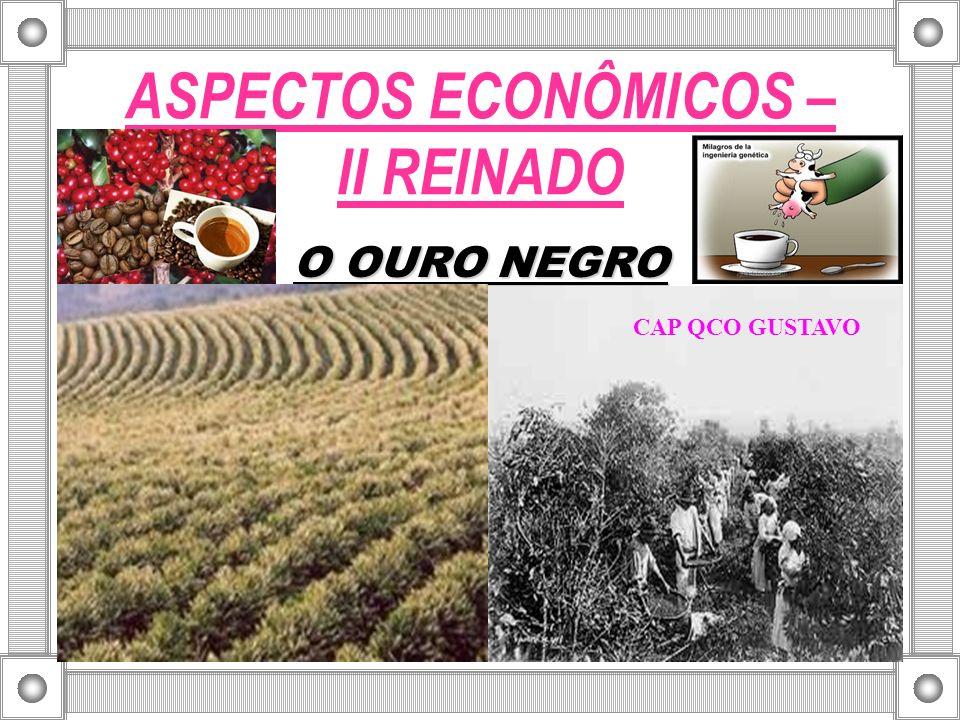 ASPECTOS ECONÔMICOS – II REINADO O OURO NEGRO CAP QCO GUSTAVO