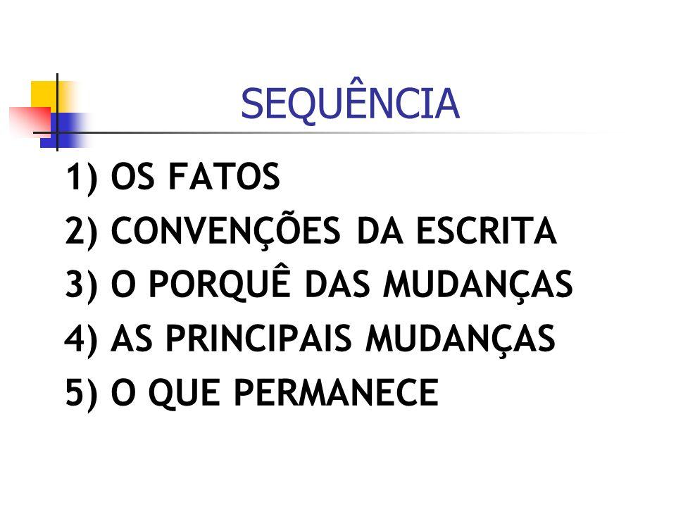 1) OS FATOS No dia do centenário da morte de Machado de Assis, o presidente Lula assinou o decreto que estabelece o cronograma de vigência das mudanças previstas no acordo ortográfico das Comunidades dos Países de Língua Portuguesa (CPLP).