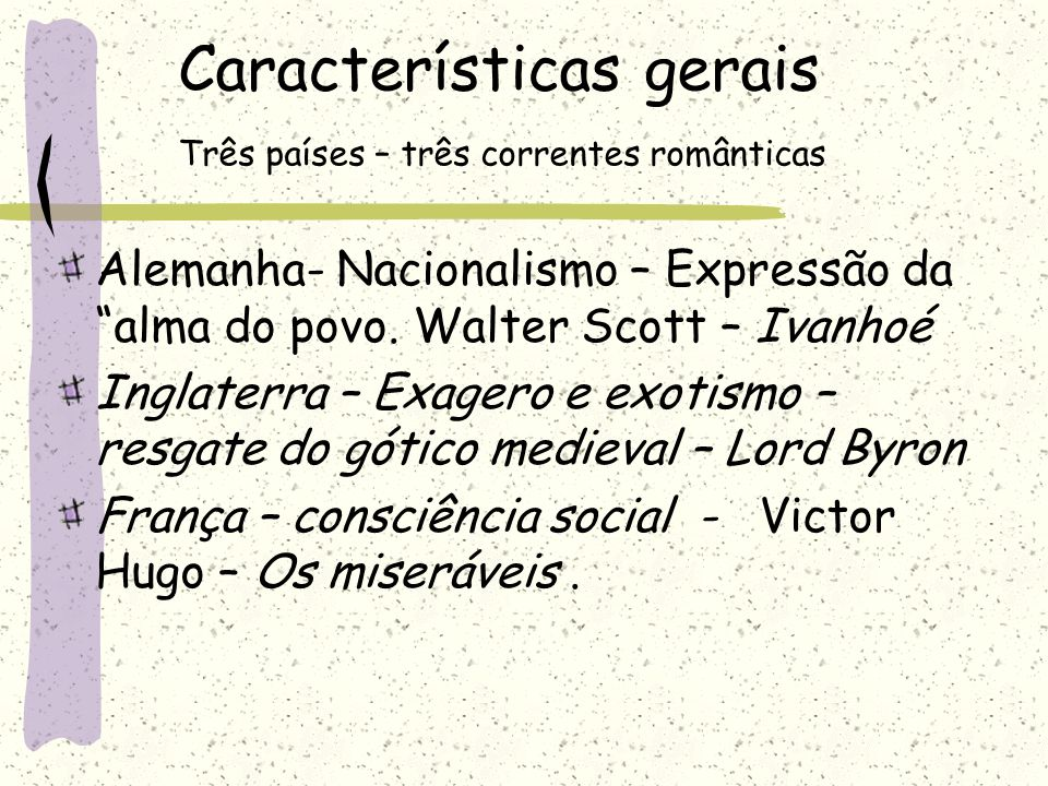3ª fase –Condoreira ou Hugoniana Poesia de cunho social-destacam –se Castro Alves e Tobias Barreto.