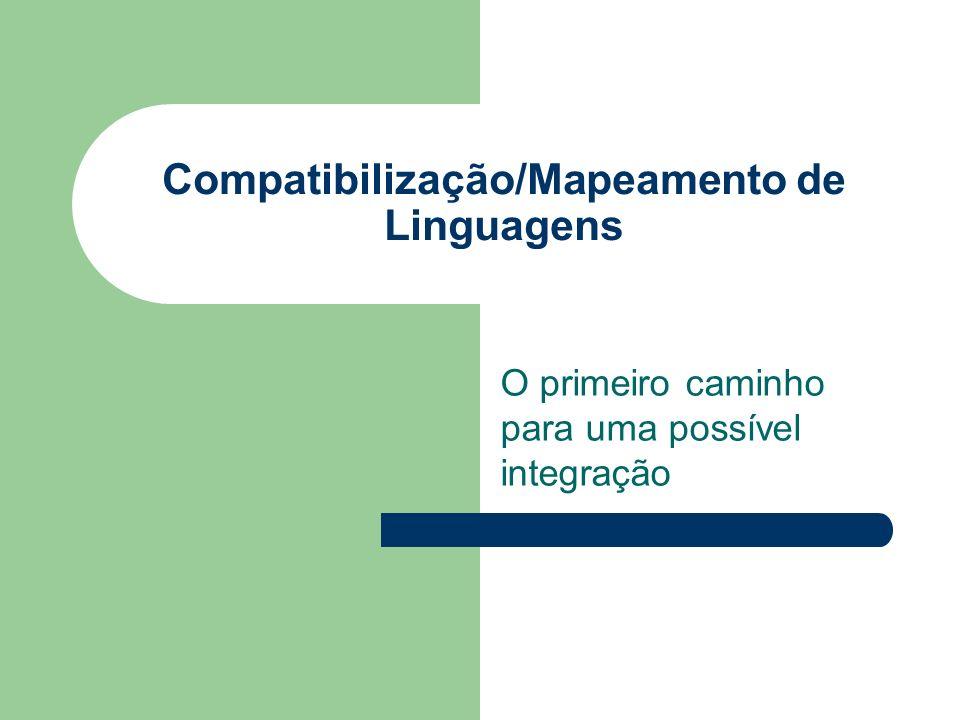Compatibilização/Mapeamento de Linguagens O primeiro caminho para uma possível integração