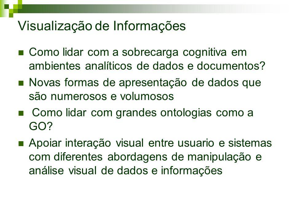 Visualização de Informações Como lidar com a sobrecarga cognitiva em ambientes analíticos de dados e documentos? Novas formas de apresentação de dados