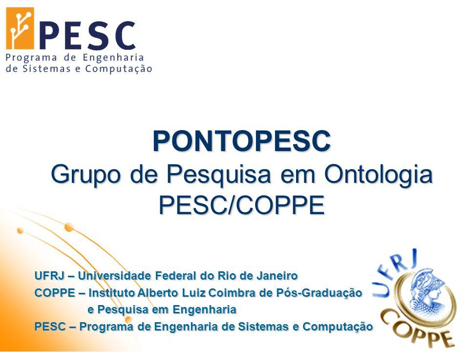 21/09/2009PONTOPESC - Grupo de Pesquisa em Ontologia PESC/COPPE12 KATe (Knowledge Acquisition Techniques) Objetivo: Uso de técnicas de aquisição do conhecimento para a criação de ontologias.