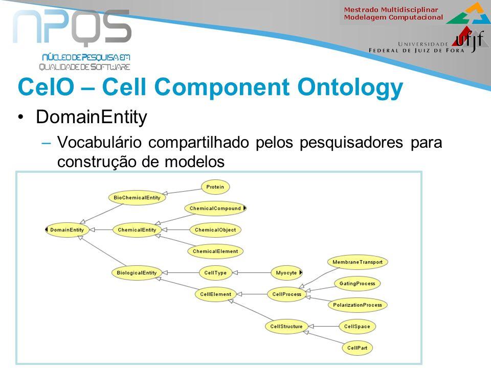 II Seminário de Ontologia CelO – Cell Component Ontology DomainEntity –Vocabulário compartilhado pelos pesquisadores para construção de modelos