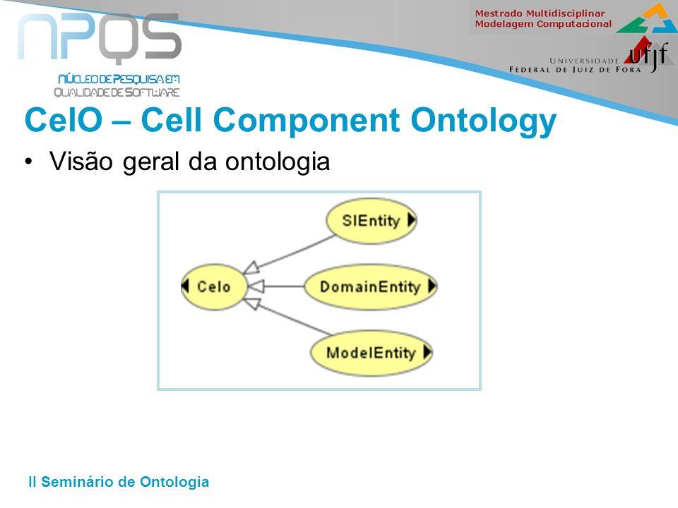 II Seminário de Ontologia CelO – Cell Component Ontology Visão geral da ontologia