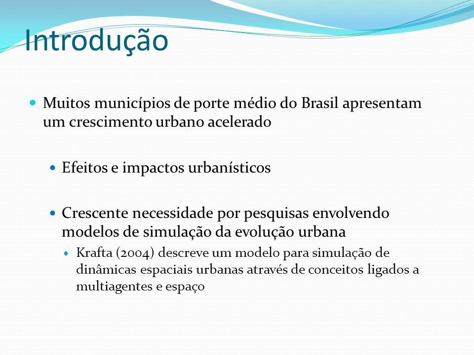 Introdução Muitos municípios de porte médio do Brasil apresentam um crescimento urbano acelerado Efeitos e impactos urbanísticos Crescente necessidade