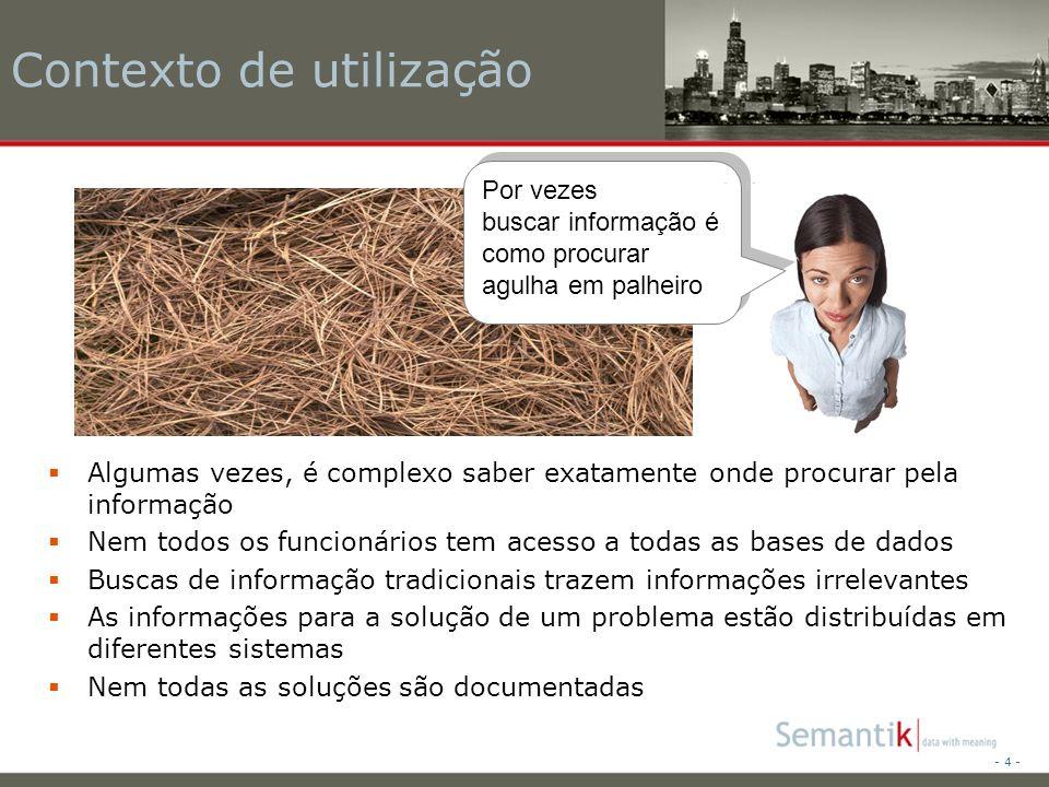- 25 - Obrigado pela atenção Contato: Semantik Carlo Borsoi Moura E-Mail: carlo.moura@semantik.com.brcarlo.moura@semantik.com.br Tel: 9406 7461 http://www.