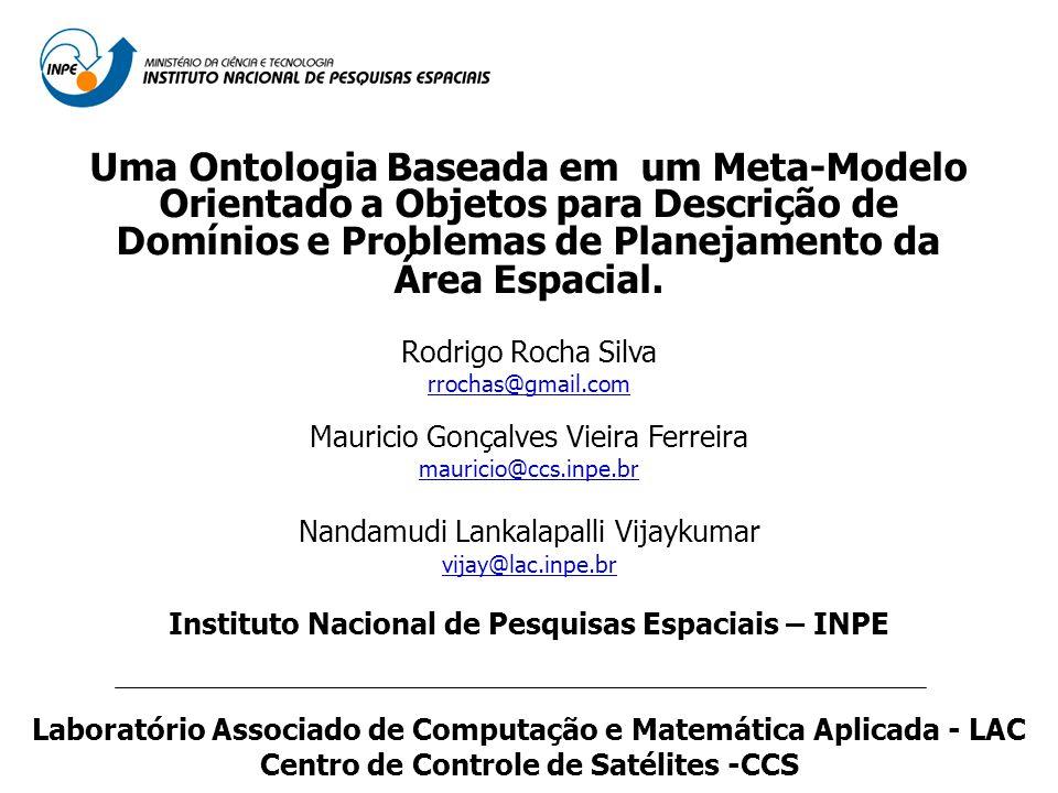 Uma Ontologia Baseada em um Meta-Modelo Orientado a Objetos para Descrição de Domínios e Problemas de Planejamento da Área Espacial. Rodrigo Rocha Sil