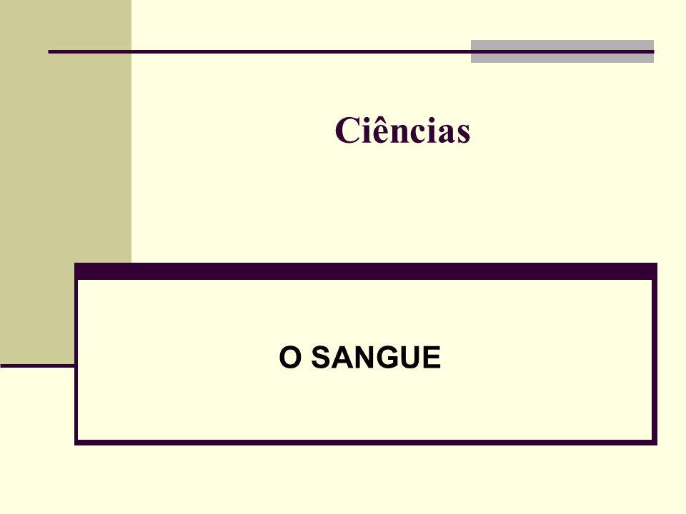 Ciências O SANGUE