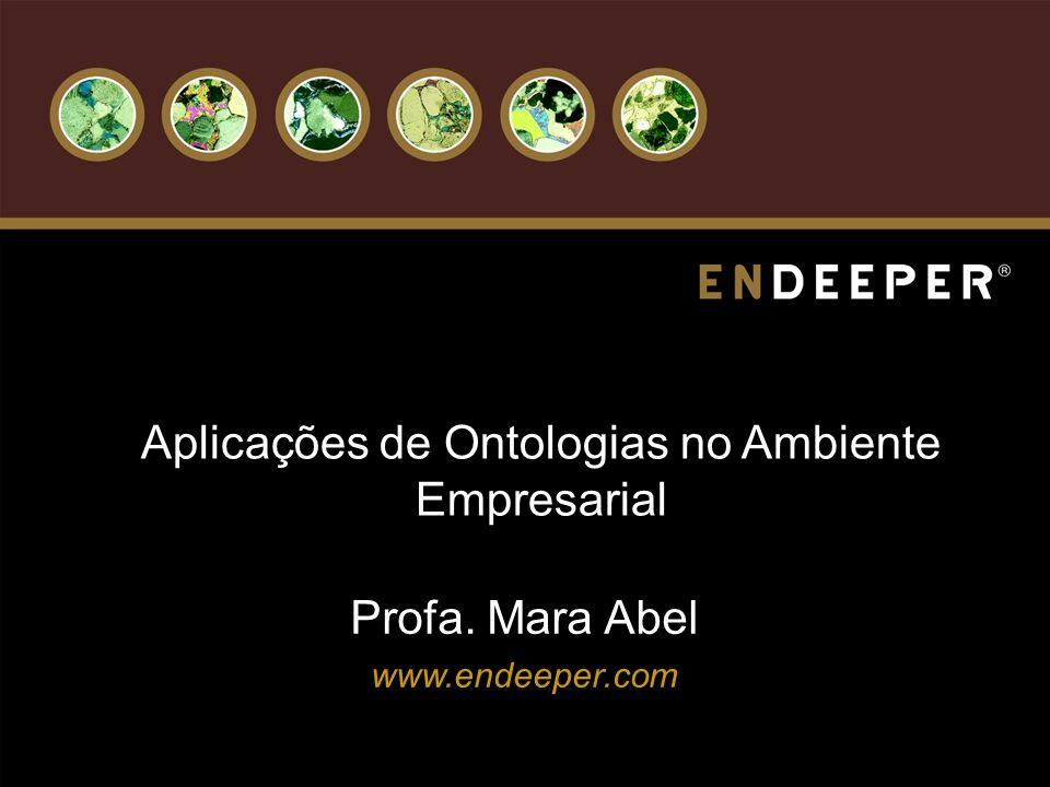 Aplicações de Ontologias no Ambiente Empresarial Profa. Mara Abel www.endeeper.com