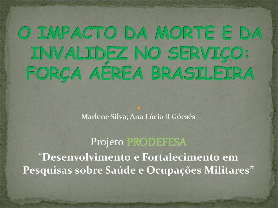 Marlene Silva; Ana Lúcia B Góesés PRODEFESA Projeto PRODEFESA Desenvolvimento e Fortalecimento em Pesquisas sobre Saúde e Ocupações Militares
