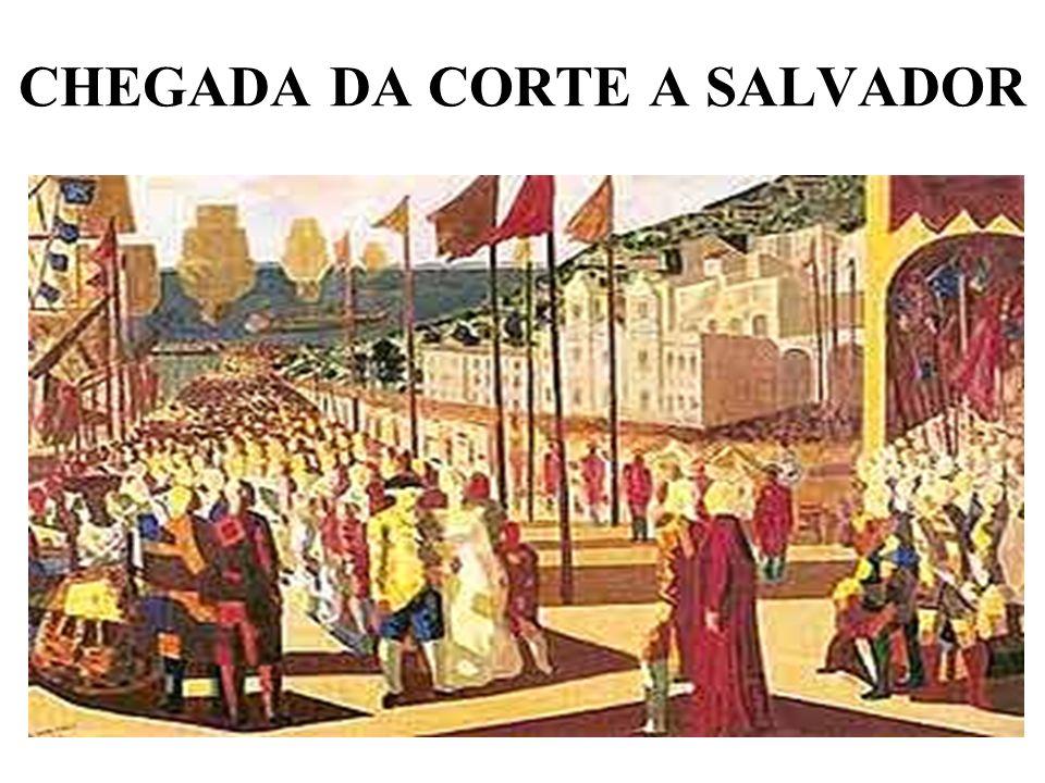 CHEGADA DA CORTE A SALVADOR