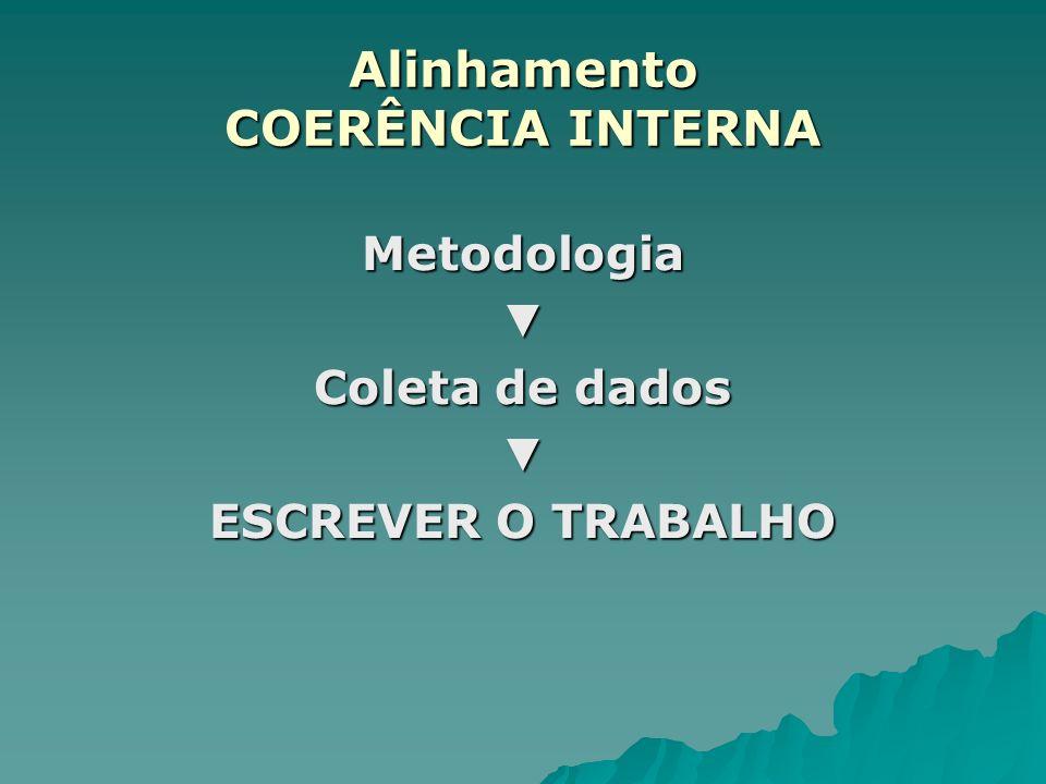 Metodologia Coleta de dados ESCREVER O TRABALHO