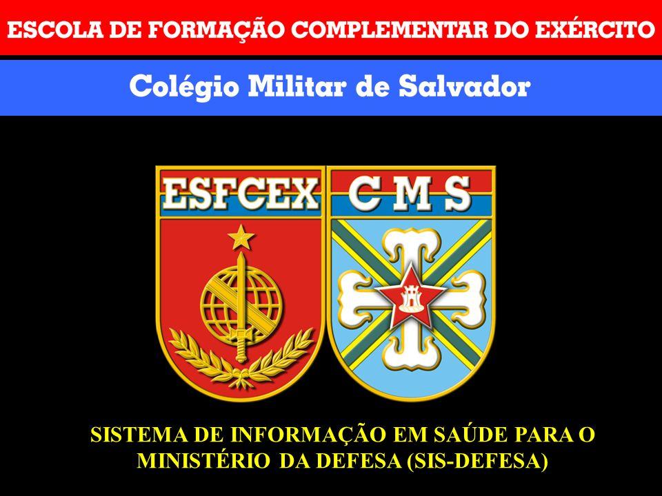 SISTEMA DE INFORMAÇÃO EM SAÚDE PARA O MINISTÉRIO DA DEFESA (SIS-DEFESA)