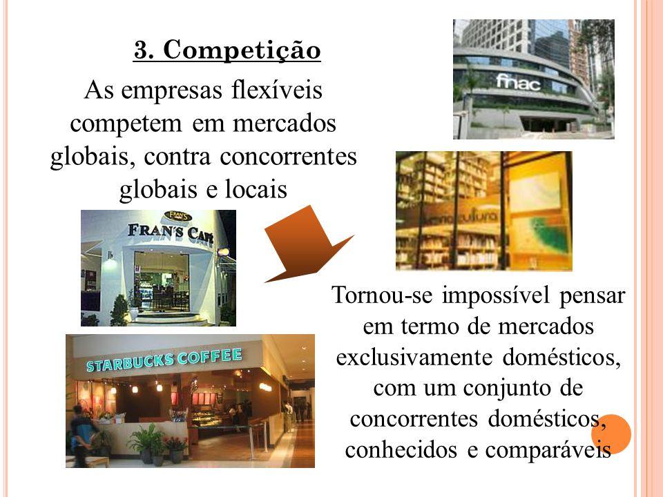 Tornou-se impossível pensar em termo de mercados exclusivamente domésticos, com um conjunto de concorrentes domésticos, conhecidos e comparáveis 3. Co