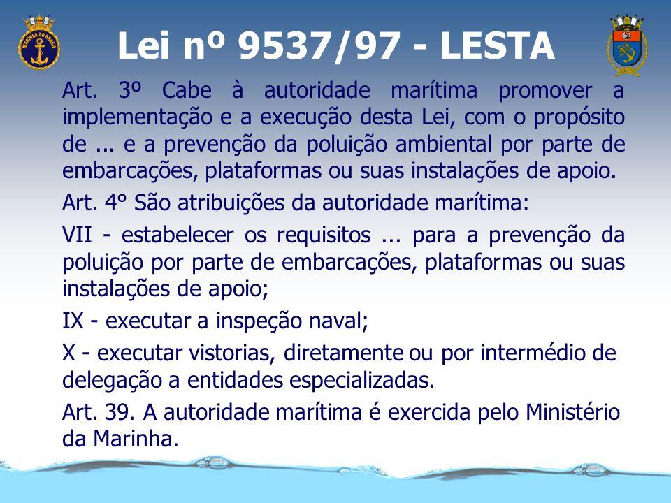 Lei complementar 97/99 Art. 17. Cabe à Marinha, como atribuições subsidiárias particulares: IV - implementar e fiscalizar o cumprimento de leis e regu