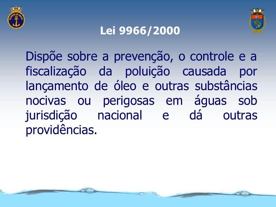 Lei nº 9537/97 - LESTA Art. 3º Cabe à autoridade marítima promover a implementação e a execução desta Lei, com o propósito de... e a prevenção da polu