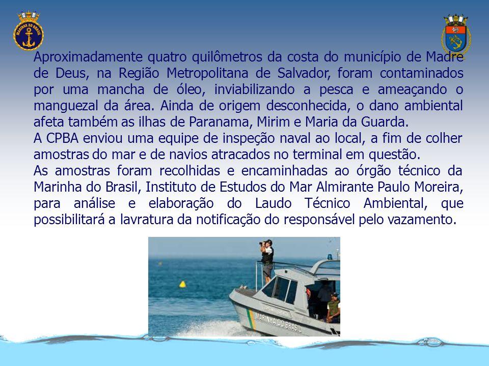 O vazamento de ó leo na bacia de Campos, no litoral norte do Estado do Rio de Janeiro, provocou uma mancha de 162 km ² no mar, o equivalente a metade