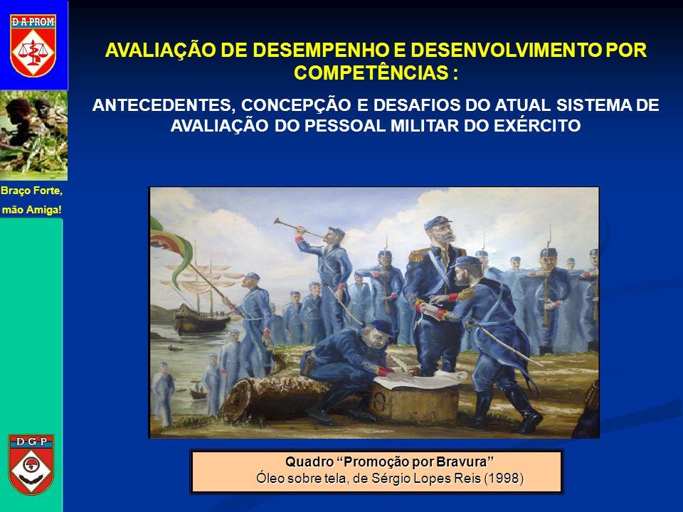 Quadro Promoção por Bravura Óleo sobre tela, de Sérgio Lopes Reis (1998) AVALIAÇÃO DE DESEMPENHO E DESENVOLVIMENTO POR COMPETÊNCIAS : ANTECEDENTES, CO