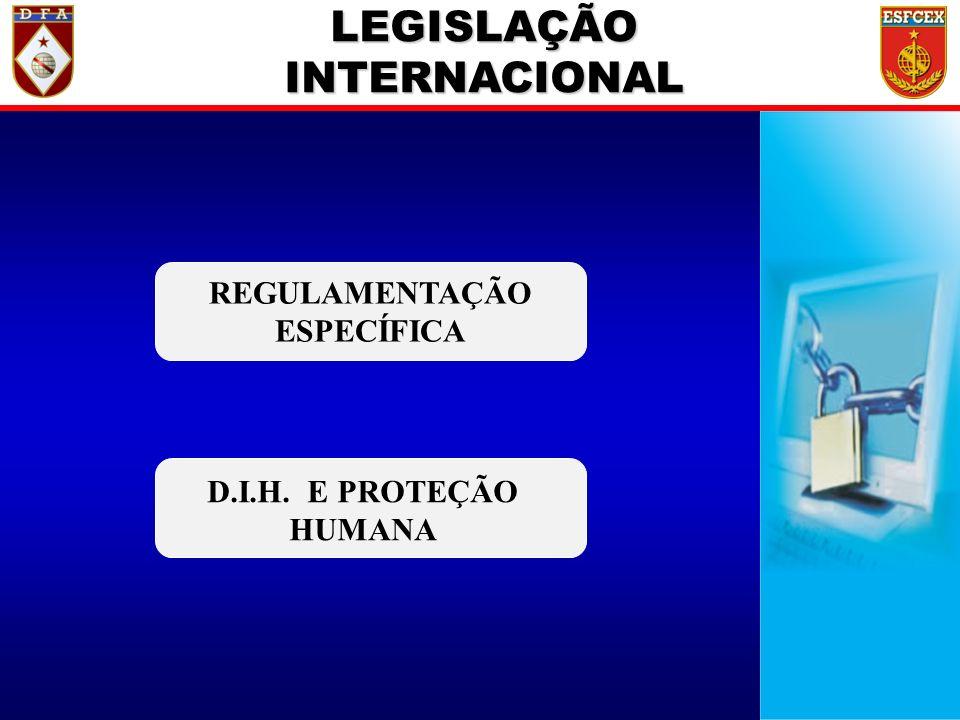 7 / ?? LEGISLAÇÃO INTERNACIONAL REGULAMENTAÇÃO ESPECÍFICA D.I.H. E PROTEÇÃO HUMANA