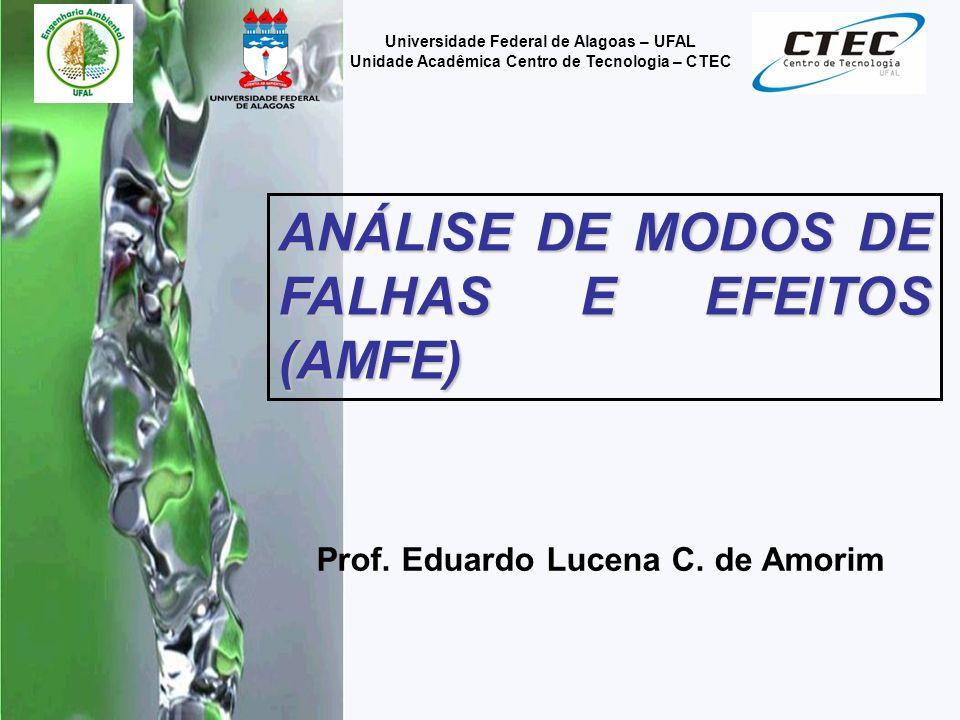 Prof. Eduardo Lucena C. de Amorim Universidade Federal de Alagoas – UFAL Unidade Acadêmica Centro de Tecnologia – CTEC ANÁLISE DE MODOS DE FALHAS E EF