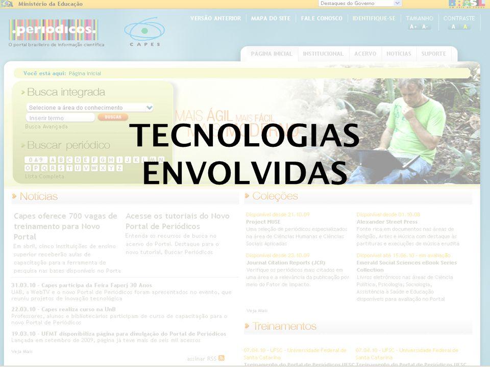 TECNOLOGIAS ENVOLVIDAS