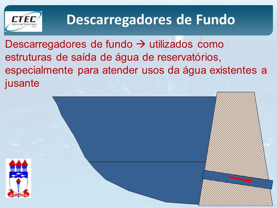 Descarregadores de fundo utilizados como estruturas de saída de água de reservatórios, especialmente para atender usos da água existentes a jusante De