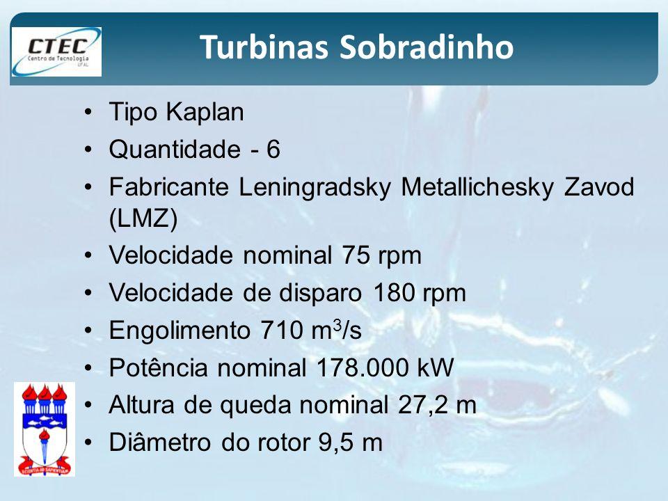 Tipo Kaplan Quantidade - 6 Fabricante Leningradsky Metallichesky Zavod (LMZ) Velocidade nominal 75 rpm Velocidade de disparo 180 rpm Engolimento 710 m