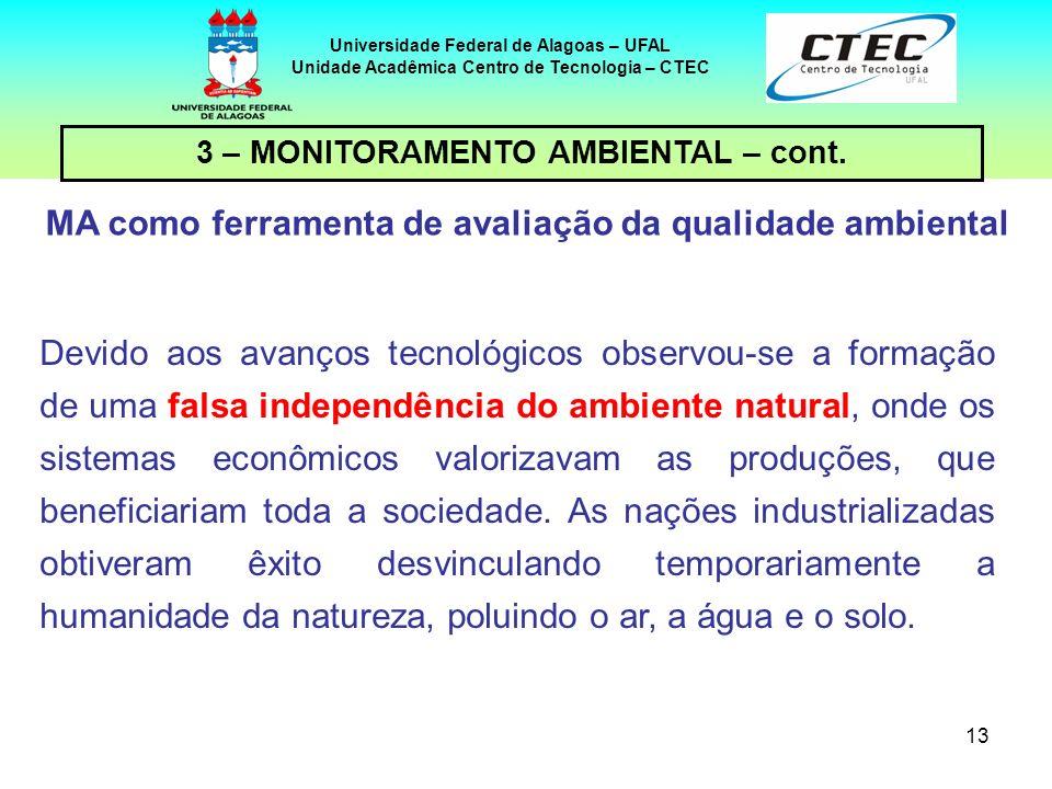 13 Universidade Federal de Alagoas – UFAL Unidade Acadêmica Centro de Tecnologia – CTEC Devido aos avanços tecnológicos observou-se a formação de uma