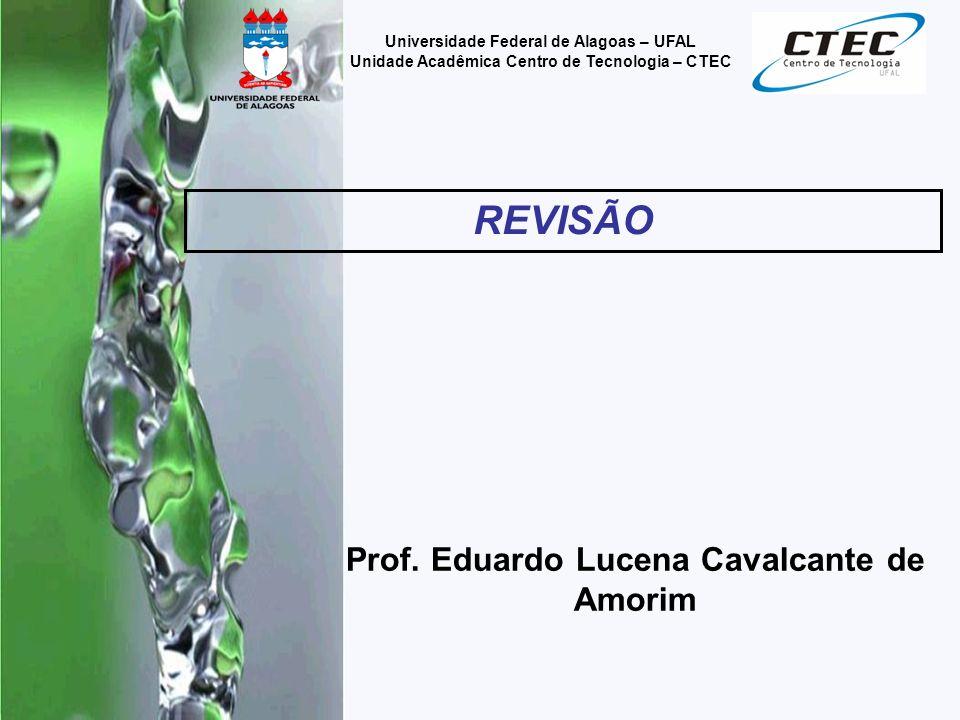 Prof. Eduardo Lucena Cavalcante de Amorim REVISÃO Universidade Federal de Alagoas – UFAL Unidade Acadêmica Centro de Tecnologia – CTEC