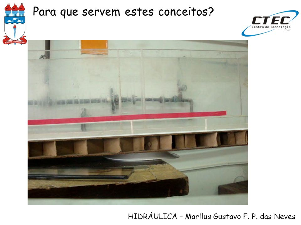 HIDRÁULICA – Marllus Gustavo F. P. das Neves Para que servem estes conceitos?