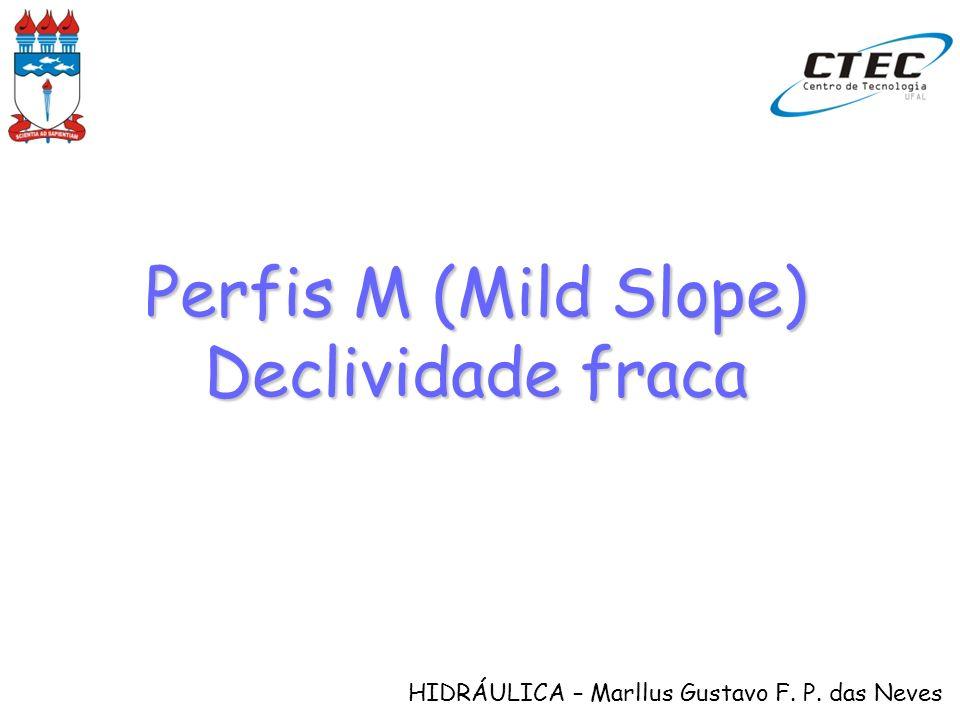 HIDRÁULICA – Marllus Gustavo F. P. das Neves Perfis M (Mild Slope) Declividade fraca