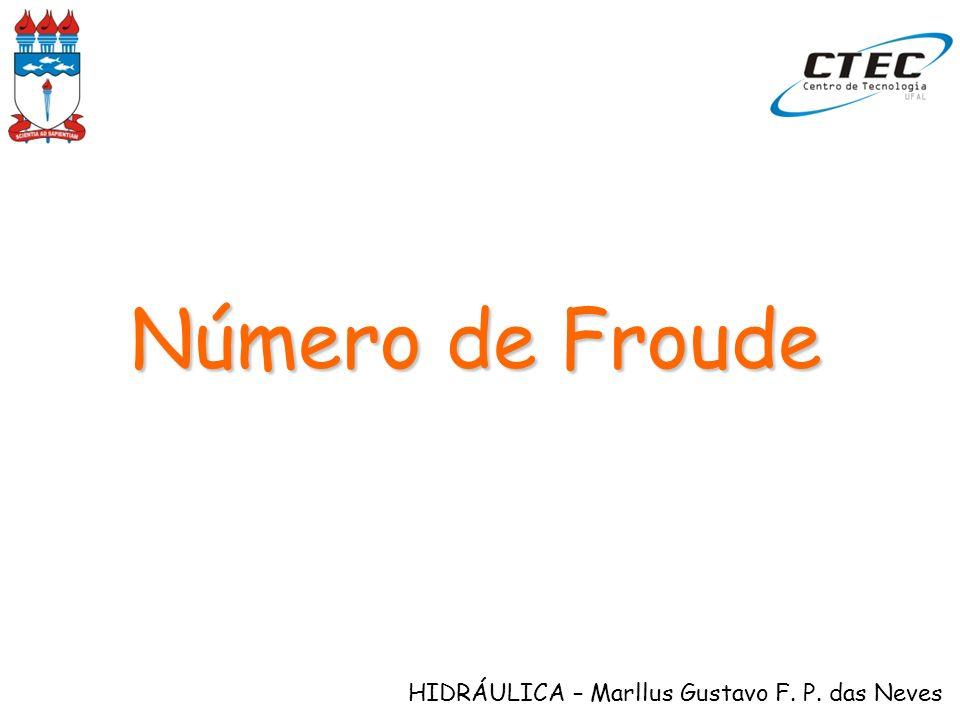 HIDRÁULICA – Marllus Gustavo F. P. das Neves Número de Froude