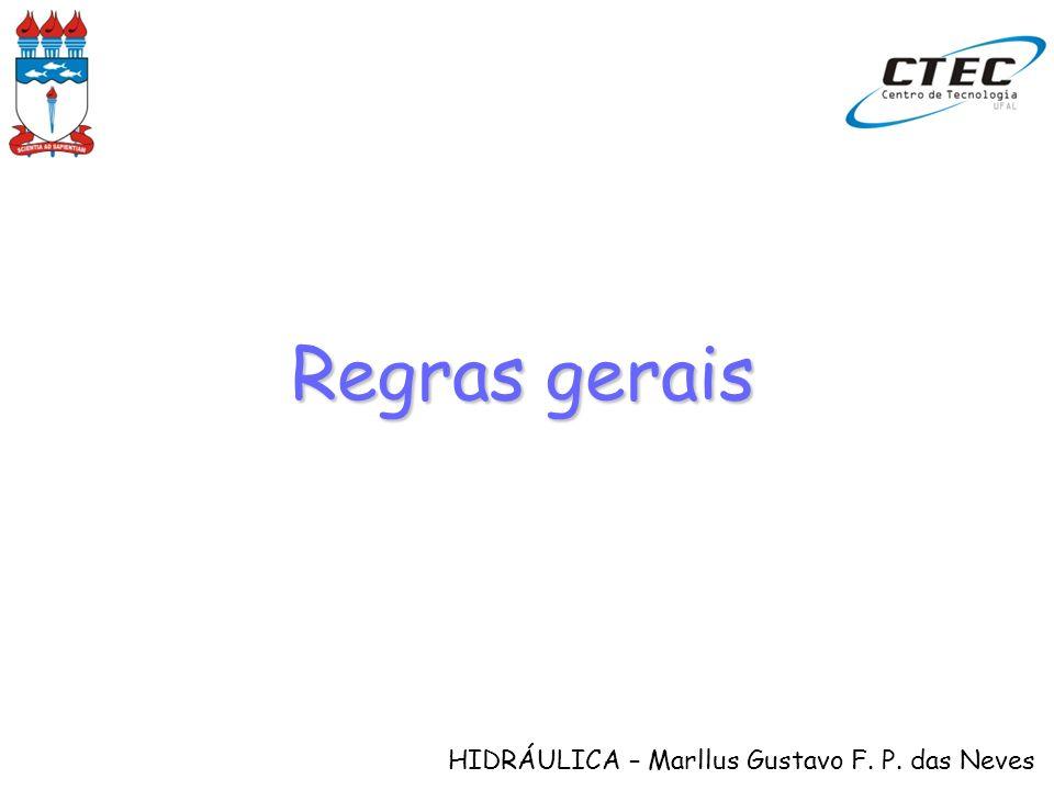 HIDRÁULICA – Marllus Gustavo F. P. das Neves Regras gerais
