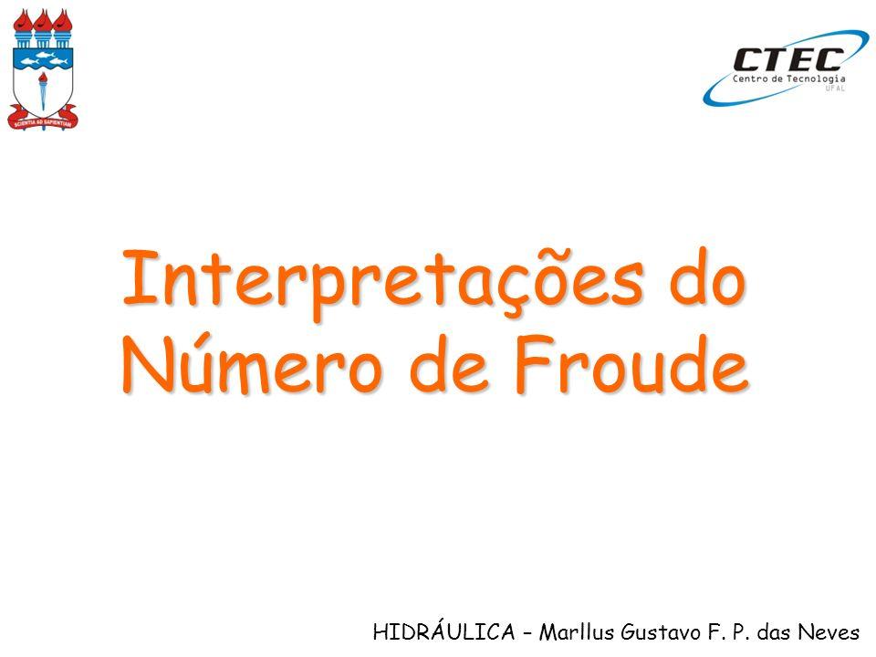 HIDRÁULICA – Marllus Gustavo F. P. das Neves Interpretações do Número de Froude