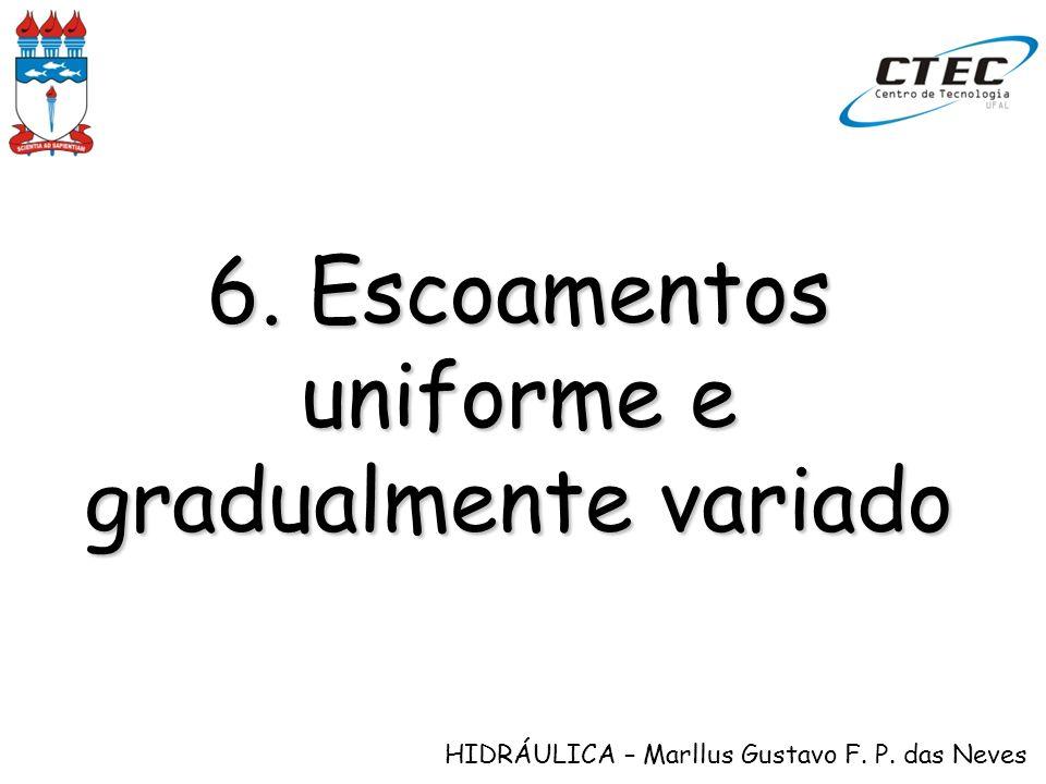 HIDRÁULICA – Marllus Gustavo F. P. das Neves 6. Escoamentos uniforme e gradualmente variado