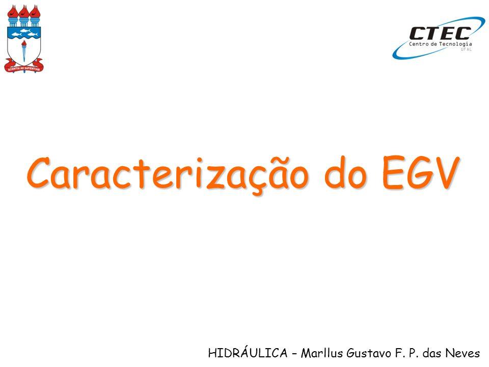HIDRÁULICA – Marllus Gustavo F. P. das Neves Caracterização do EGV