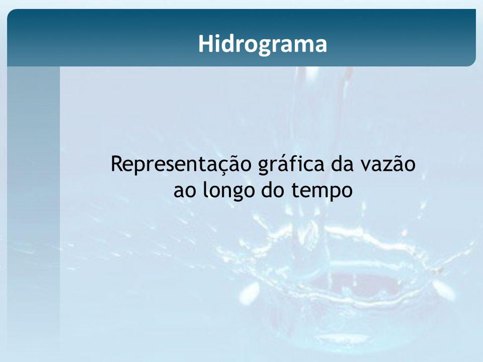 Representação gráfica da vazão ao longo do tempo Hidrograma