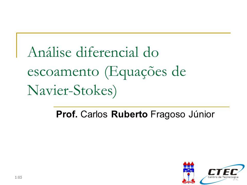 2:52 Sumário da aula Revisão Escoamento Equações de Navier-Stokes Continuidade; Quantidade de movimento; Casos Particulares