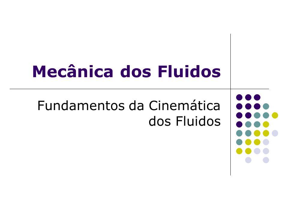 Mecânica dos Fluidos Fundamentos da Cinemática dos Fluidos
