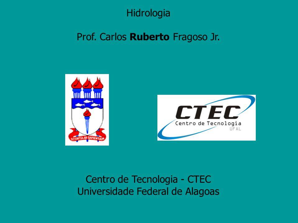 Hidrologia Prof. Carlos Ruberto Fragoso Jr. Centro de Tecnologia - CTEC Universidade Federal de Alagoas