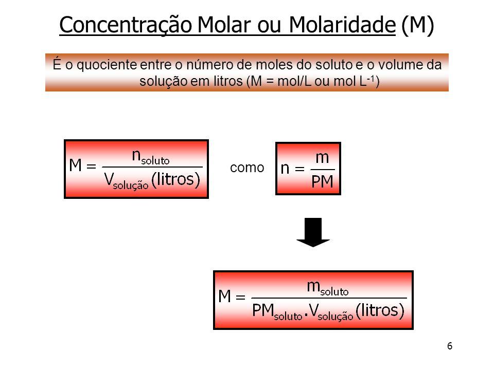 17 Padronização de Soluções Solução Padrão: a concentração de soluto é conhecida com acuracidade.