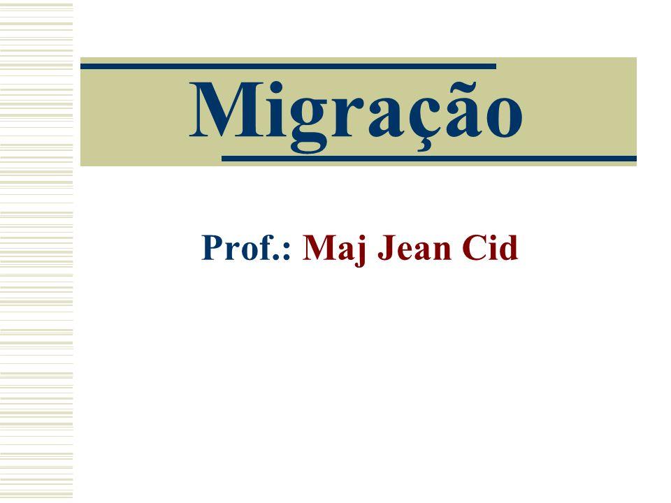 Migração Prof.: Maj Jean Cid