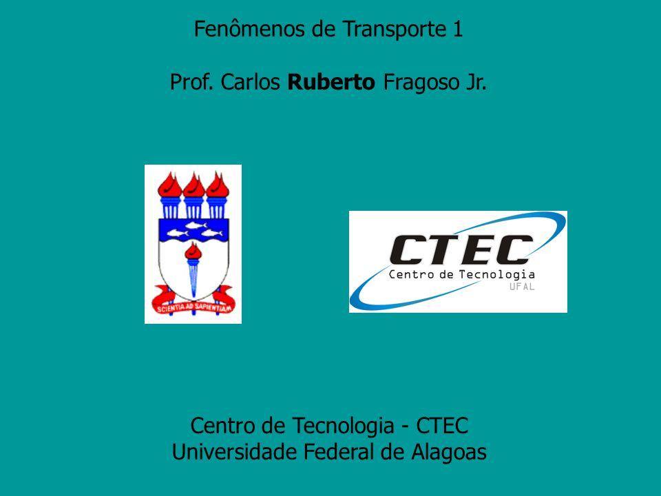 Fenômenos de Transporte 1 Prof. Carlos Ruberto Fragoso Jr. Centro de Tecnologia - CTEC Universidade Federal de Alagoas