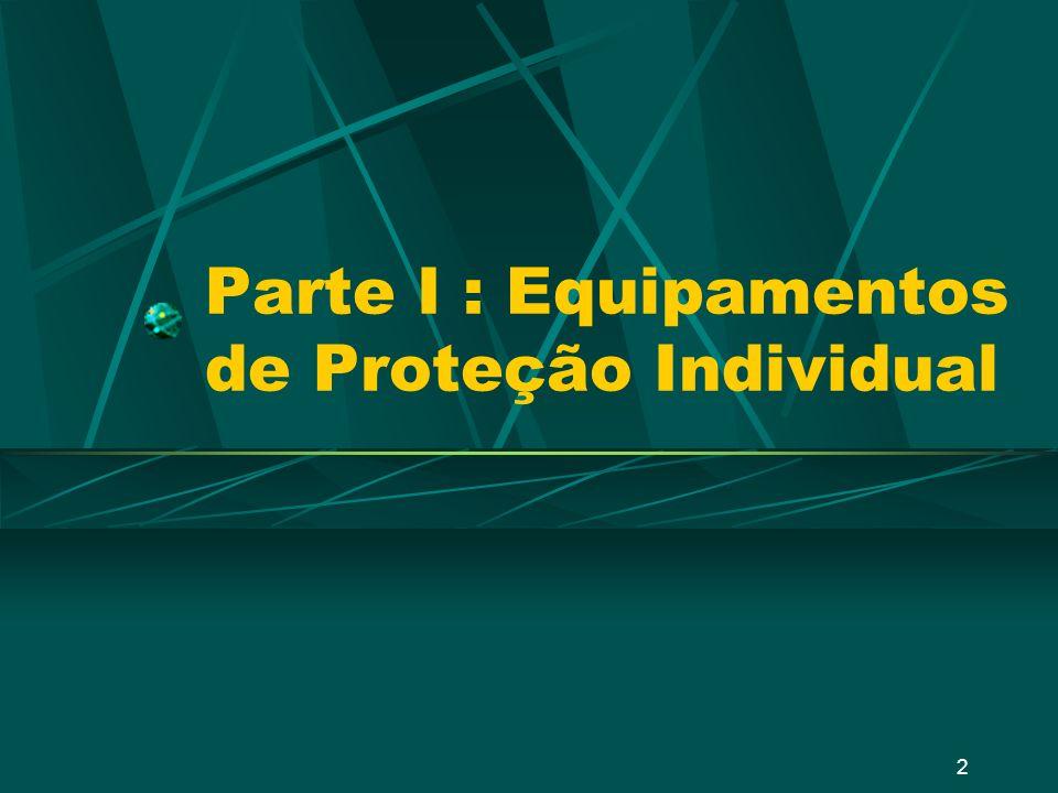 2 Parte I : Equipamentos de Proteção Individual