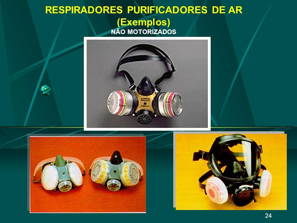 23 RESPIRADORES PURIFICADORES DE AR (Exemplos) NÃO MOTORIZADOS
