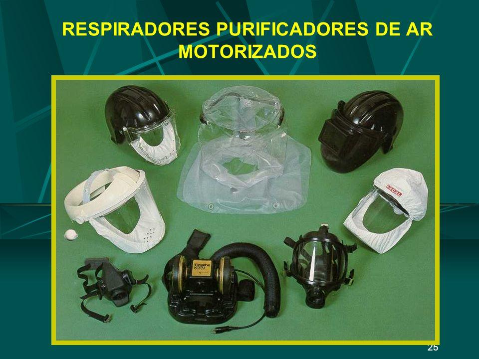 24 RESPIRADORES PURIFICADORES DE AR (Exemplos) NÃO MOTORIZADOS