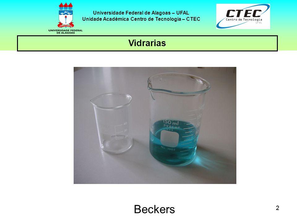 33 VIDRARIAS Universidade Federal de Alagoas – UFAL Unidade Acadêmica Centro de Tecnologia – CTEC Placas petri