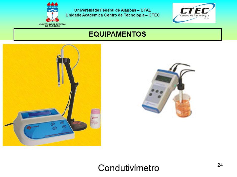 24 EQUIPAMENTOS Universidade Federal de Alagoas – UFAL Unidade Acadêmica Centro de Tecnologia – CTEC Condutivímetro