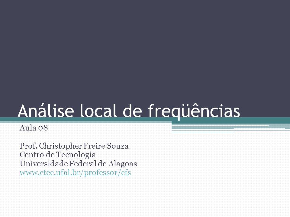 Método do Fator de Freqüência Quantis calculados por meio da fórmula K T escolhido em função do modelo teórico escolhido e do tempo de retorno para o qual se pretende estimar o quantil Normal: z Log-normal: z, para Log-Pearson III: para a equação aplicada à Log-normal, Christopher Souza: Análise local de freqüências 12