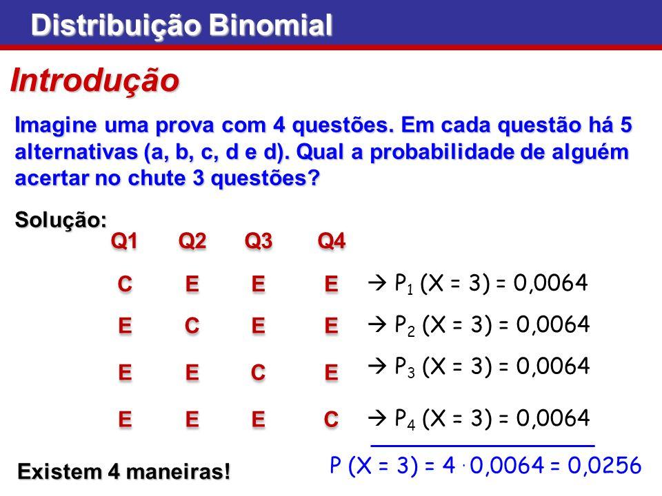 Distribuição Binomial Exemplo Considerando uma amostra constituída por 10 pessoas observadas ao acaso, qual a probabilidade de a maioria das pessoas ser favorável ao governo?